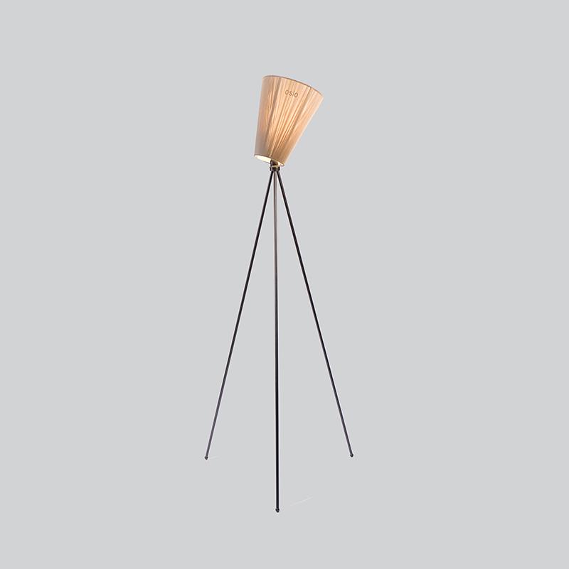 Oslo Wood Sort Lampefot