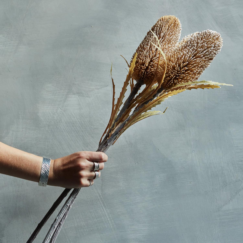 Kunstig Blomst Banksia Cinnamon