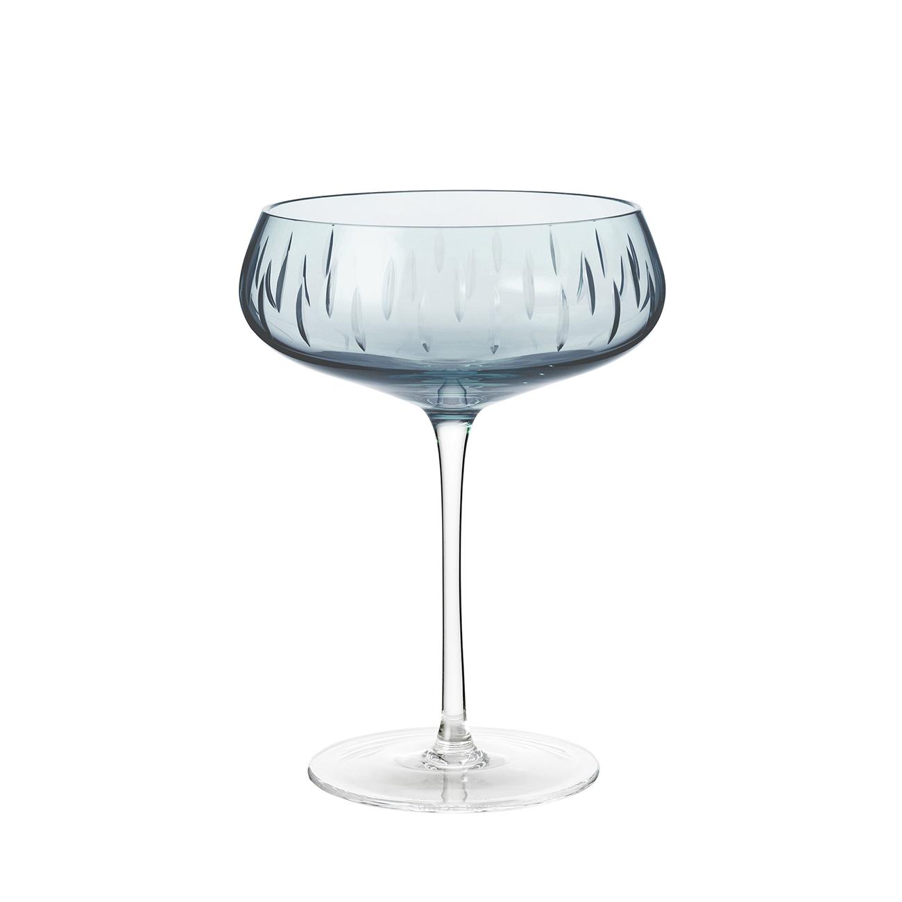 Champagneglass Blå
