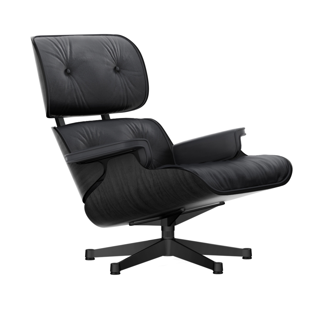 Eames Lounge Chair Nero/Sort Ask