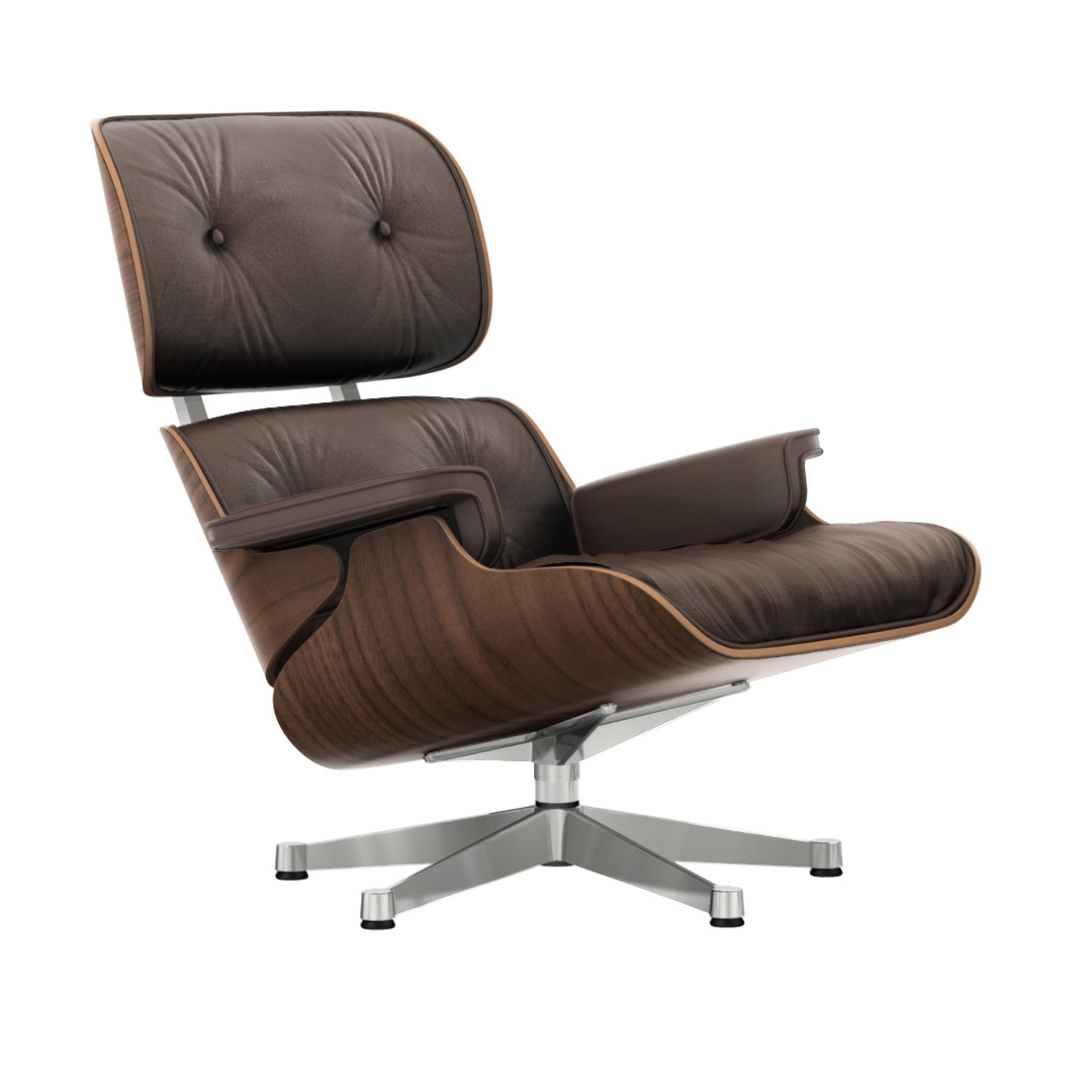 Eames Lounge Chair Marron/Valnøtt/Polished