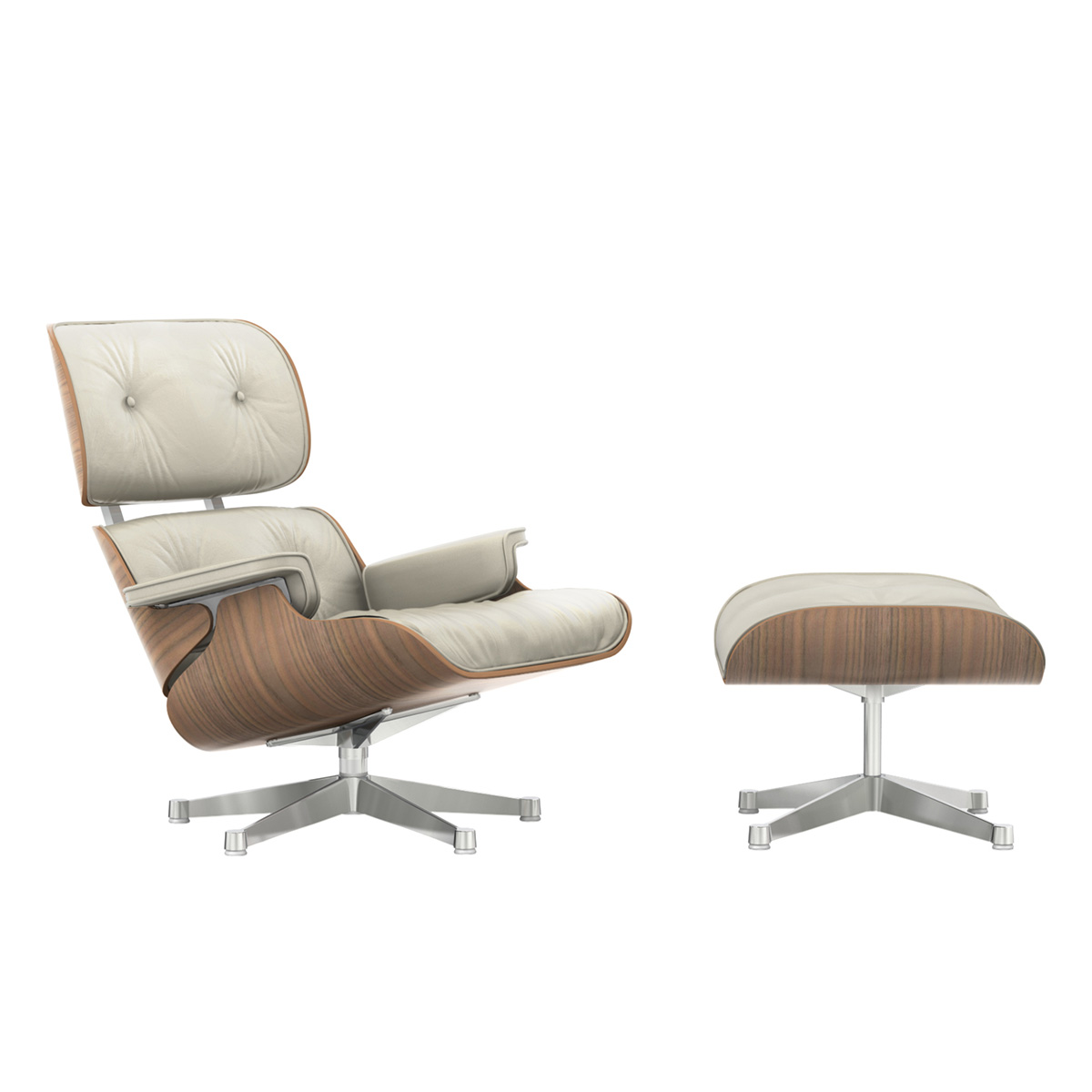 Eames Lounge Chair m/Ottoman Clay/Valnøtt