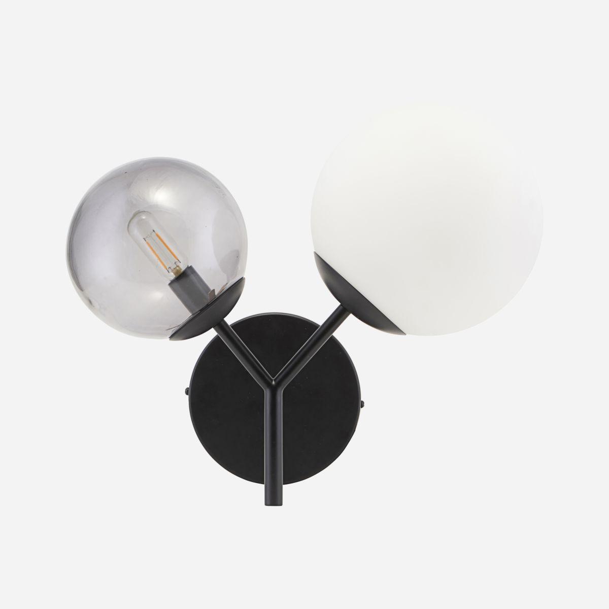 Twice Vegglampe Svart