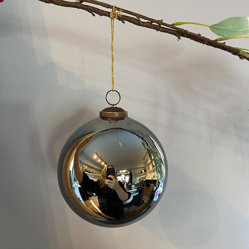 Julekule Antikk Blå 13cm