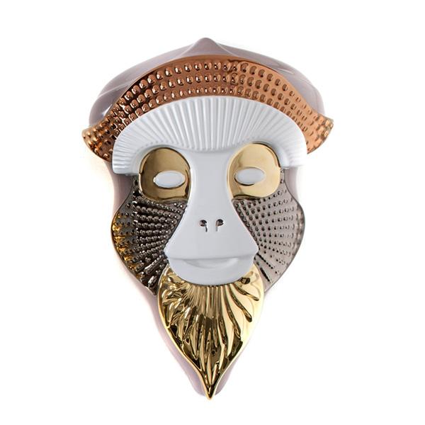 Maske Brazza Rosa/Hvit