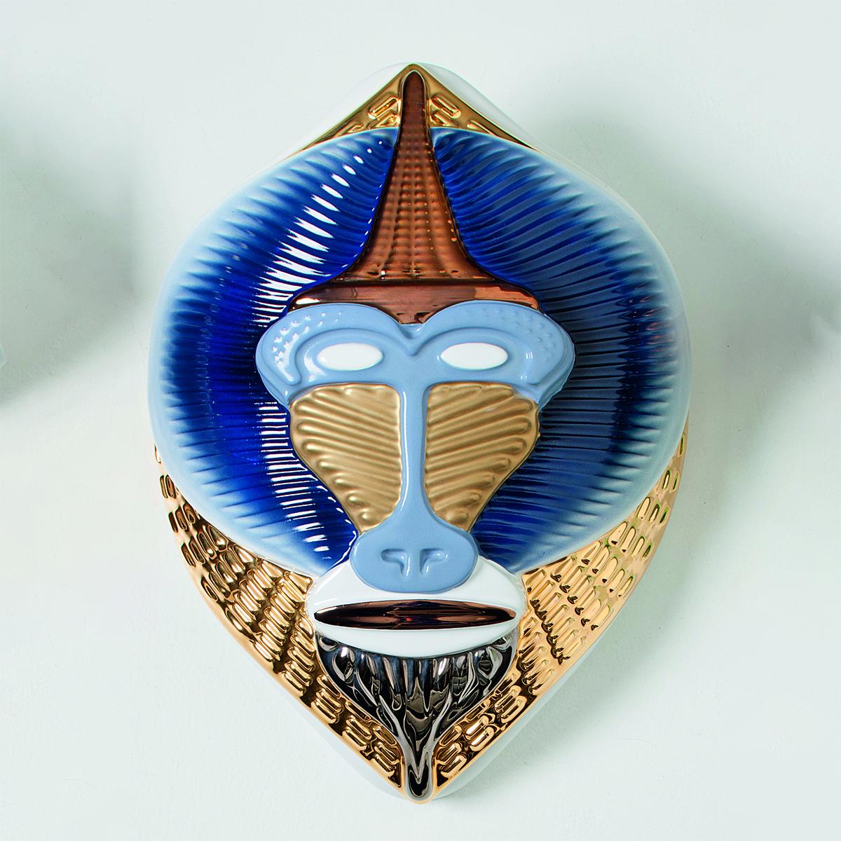 Maske Mandrillus Hvit/Blå