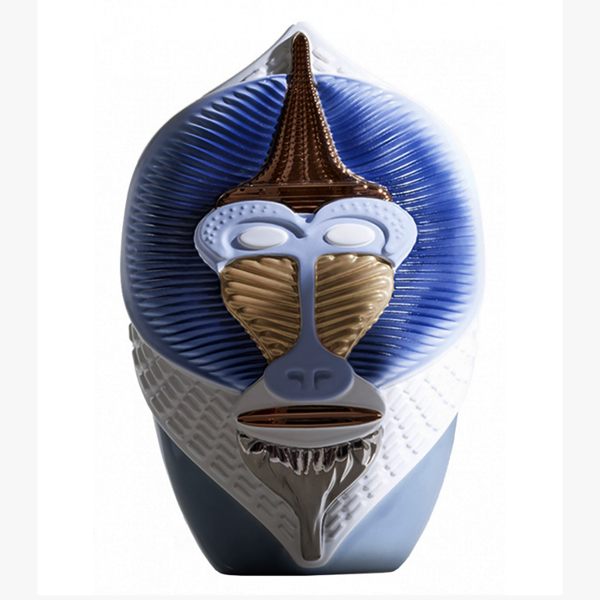 Vase Mandrillus Blå/Hvit
