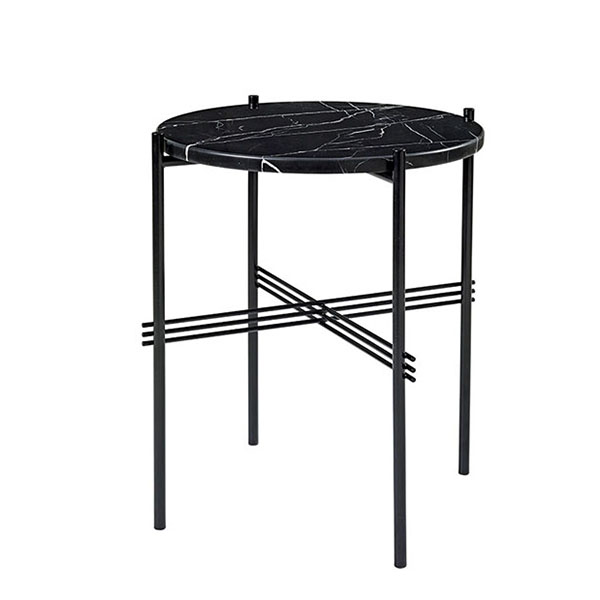 TS Side Table Ø40 Sort Marmor