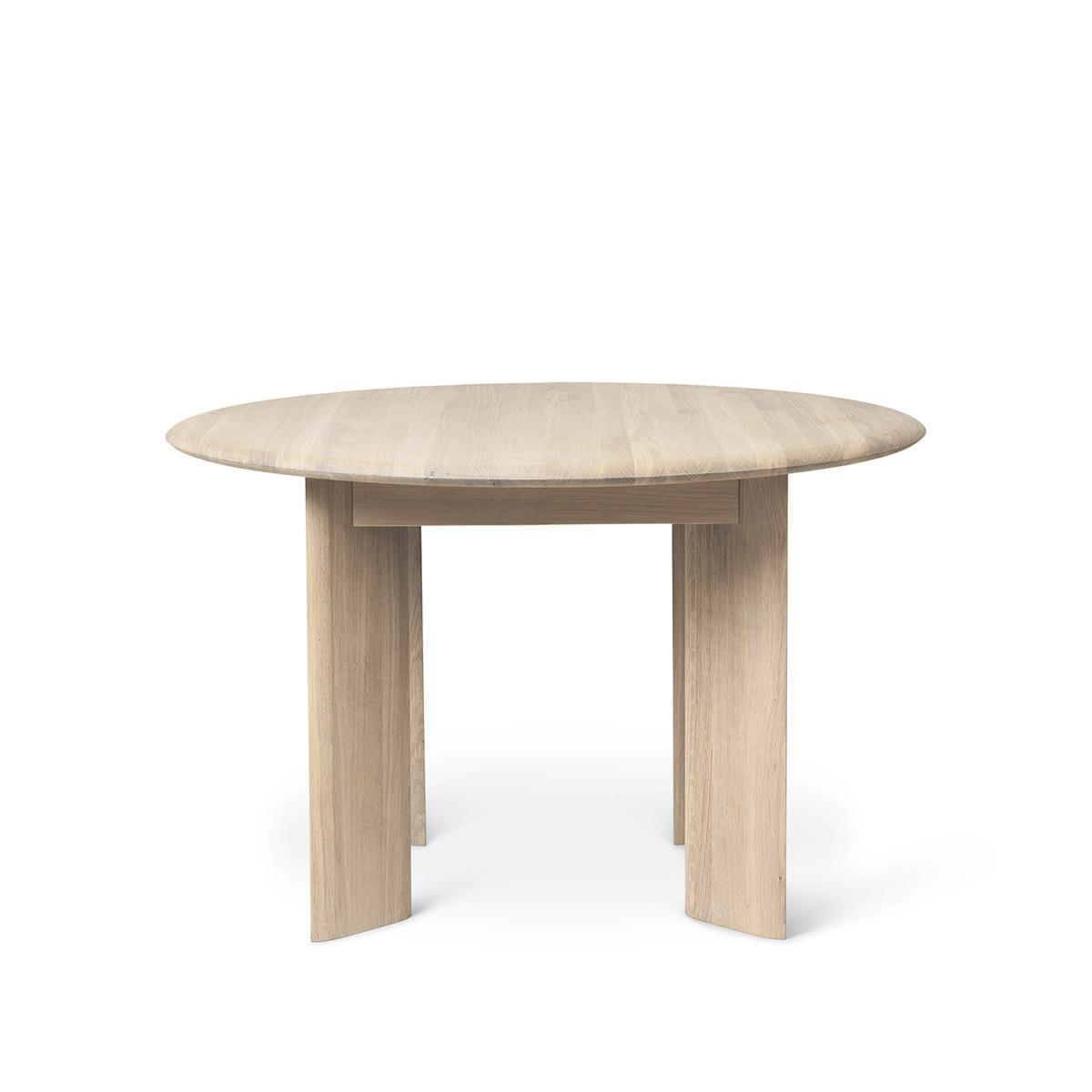 Spisebord Bevel Ø117 Hvit Oljet Eik