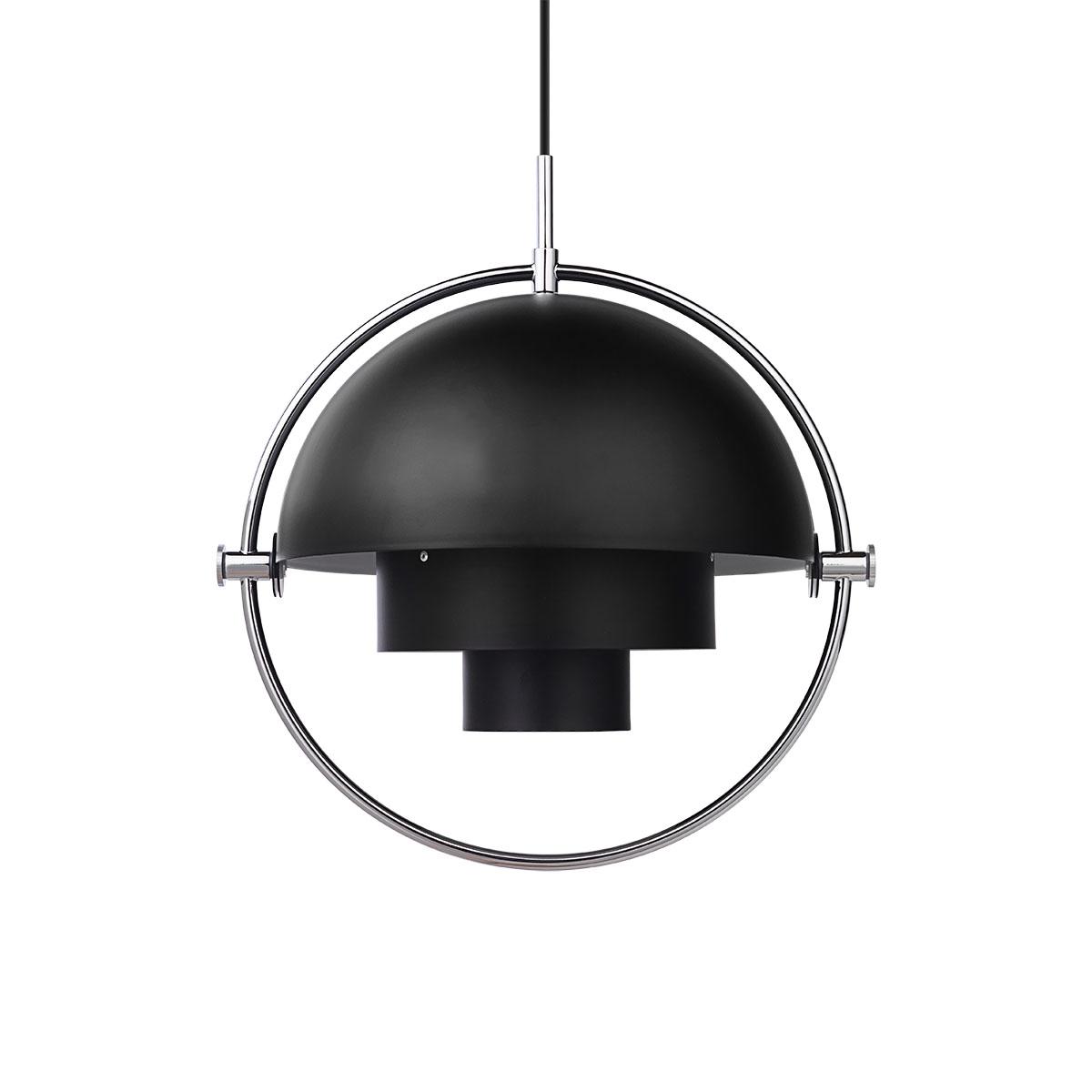 Multi-Lite Taklampe Sort/Krom