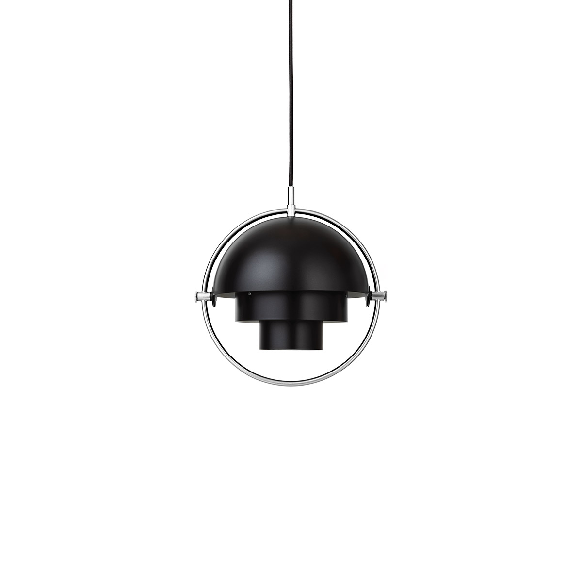 Multi-Lite Small Taklampe Sort/Krom