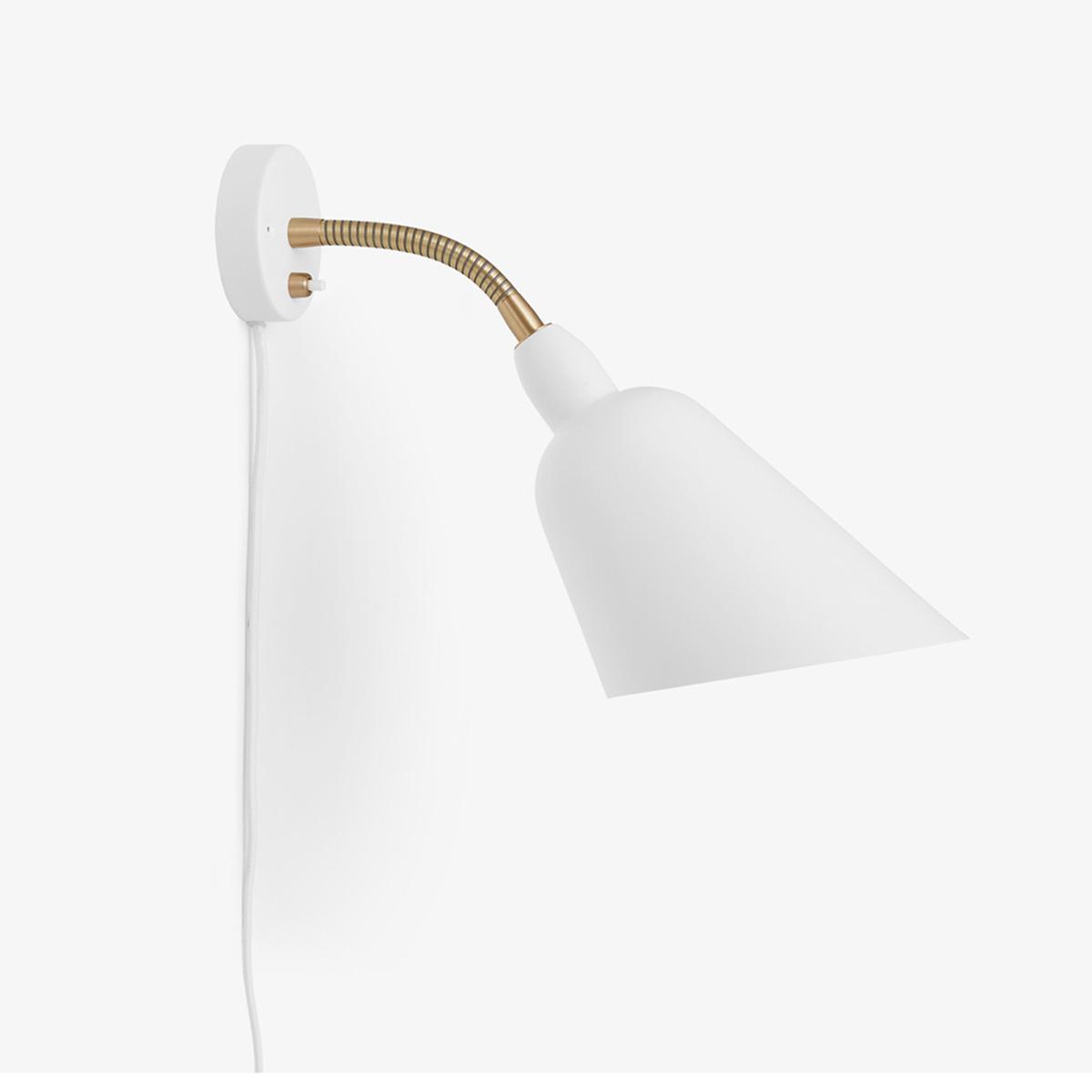 Bellevue Vegglampe AJ9 Hvit/Messing