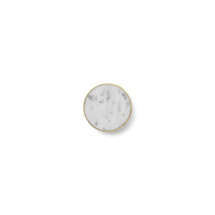 Knagg Messing/Hvit Marmor L