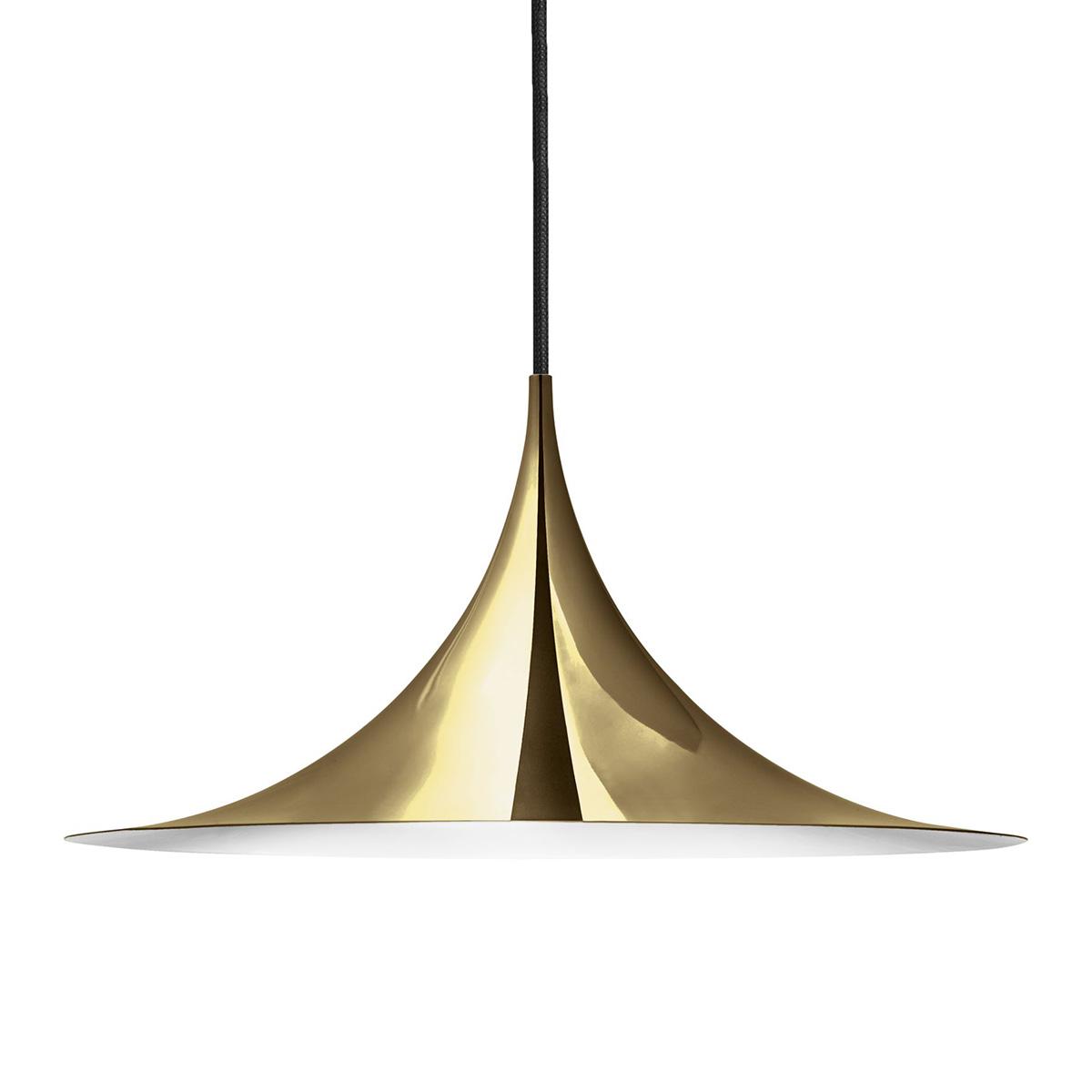 Semipendel Taklampe Ø60 Messing