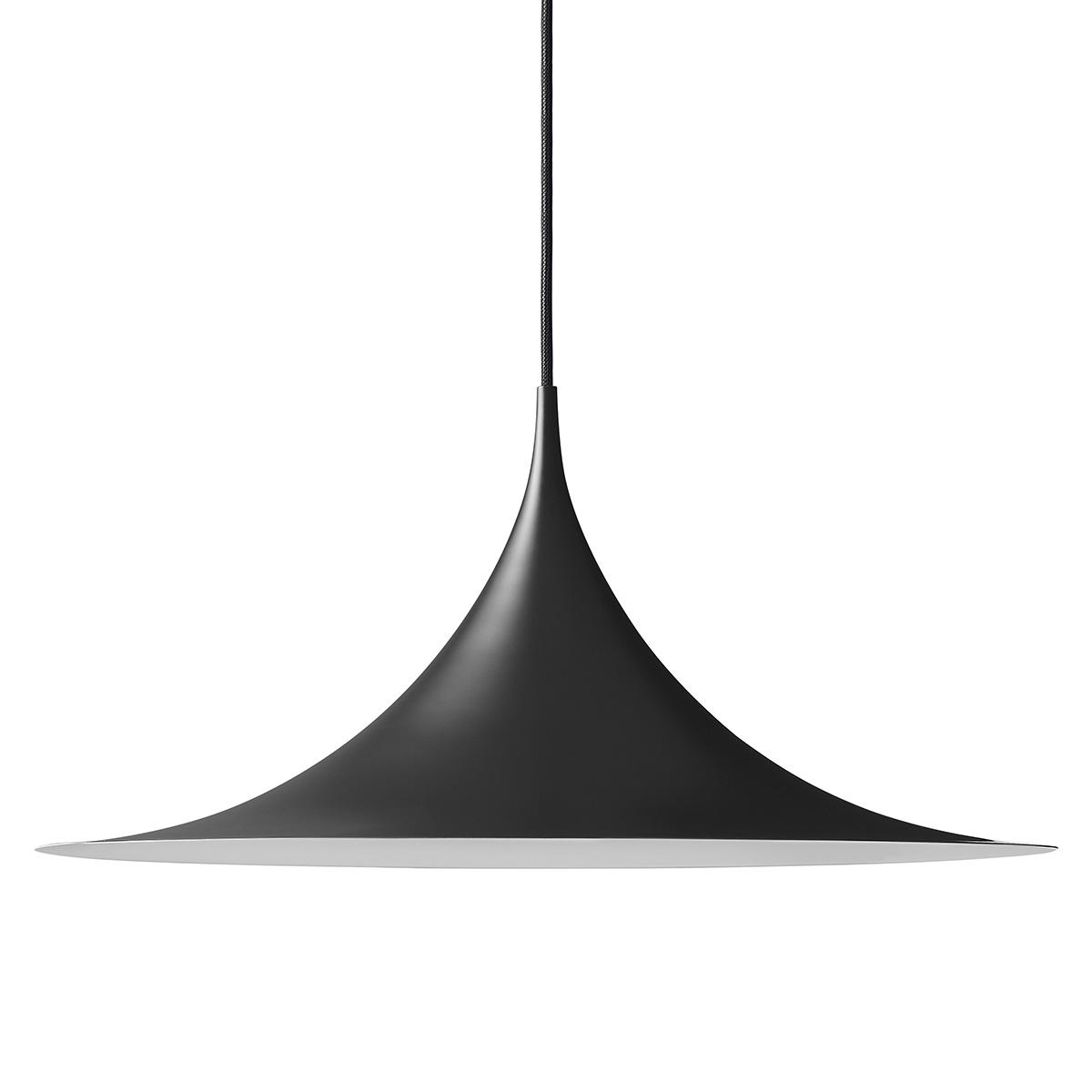 Semipendel Taklampe Ø60 Sort