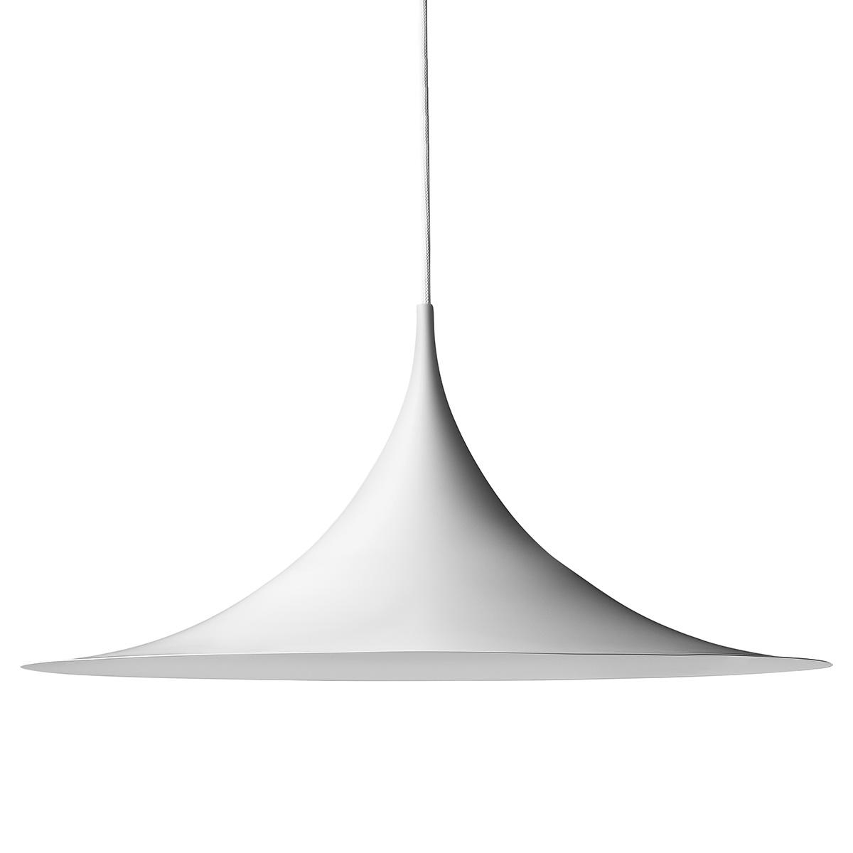 Semipendel Taklampe Ø60 Hvit