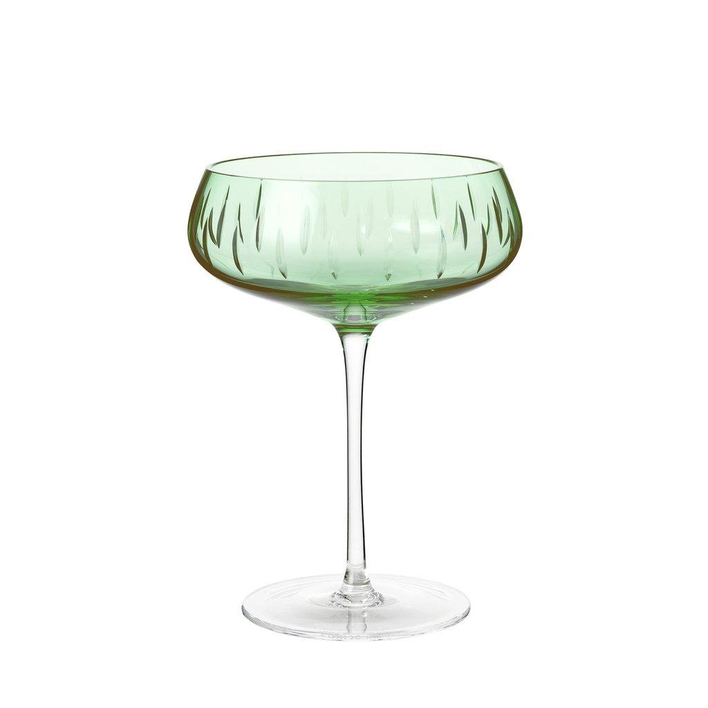 Champagneglass Grønn