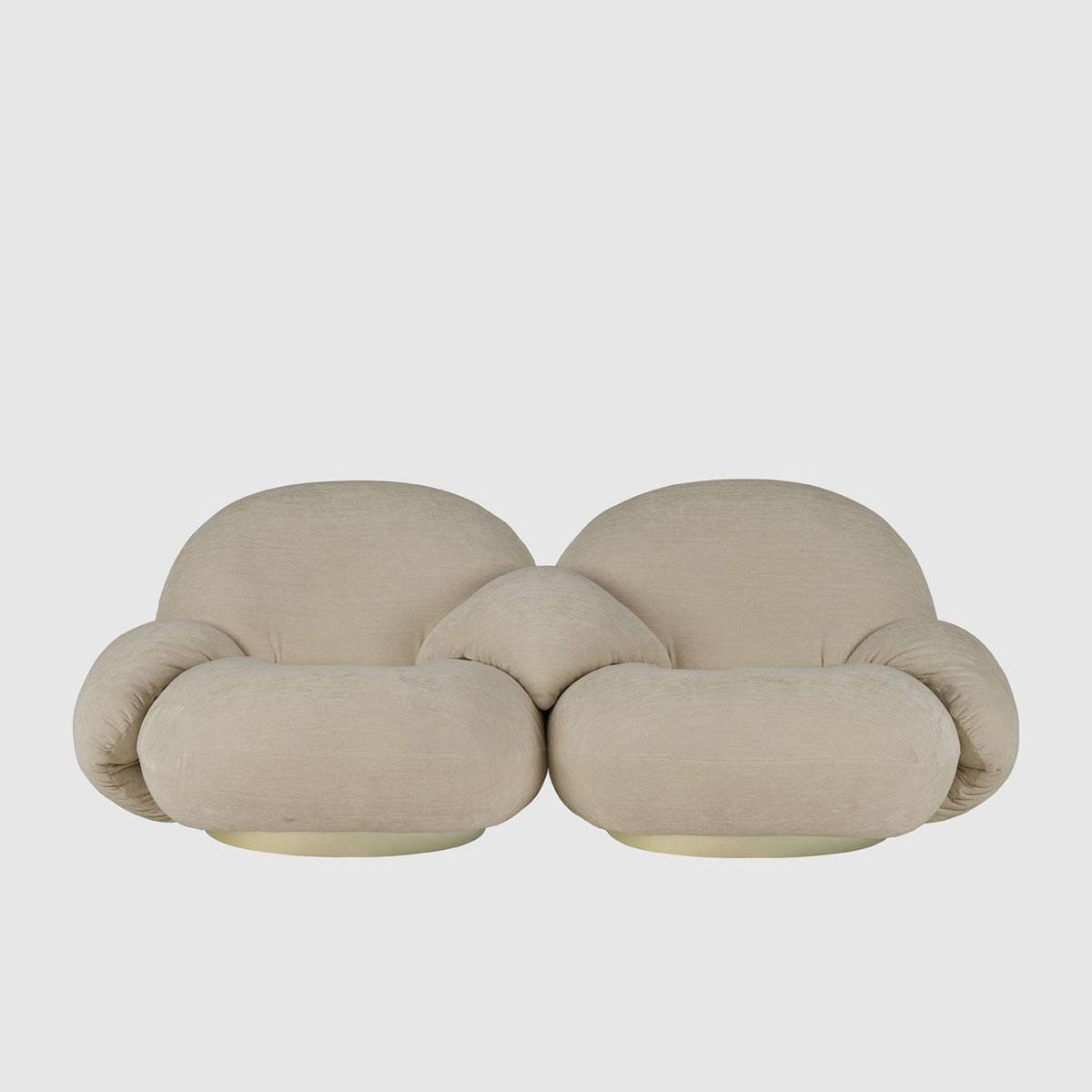 Pacha 2-seter Sofa m/armlener Gold Base PG3