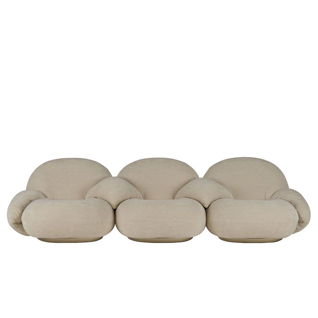 Pacha 3-seter Sofa m/armlener Gold Base PG3