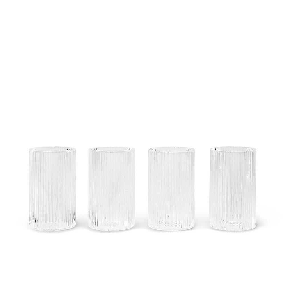 Serveringsglass Ripple 4pk