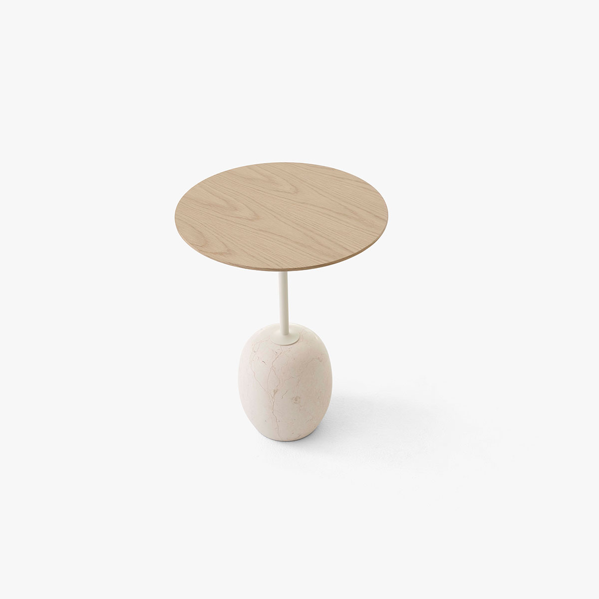 Lato Sidebord LN8 Lacquered Oak/Crema Diva Marble