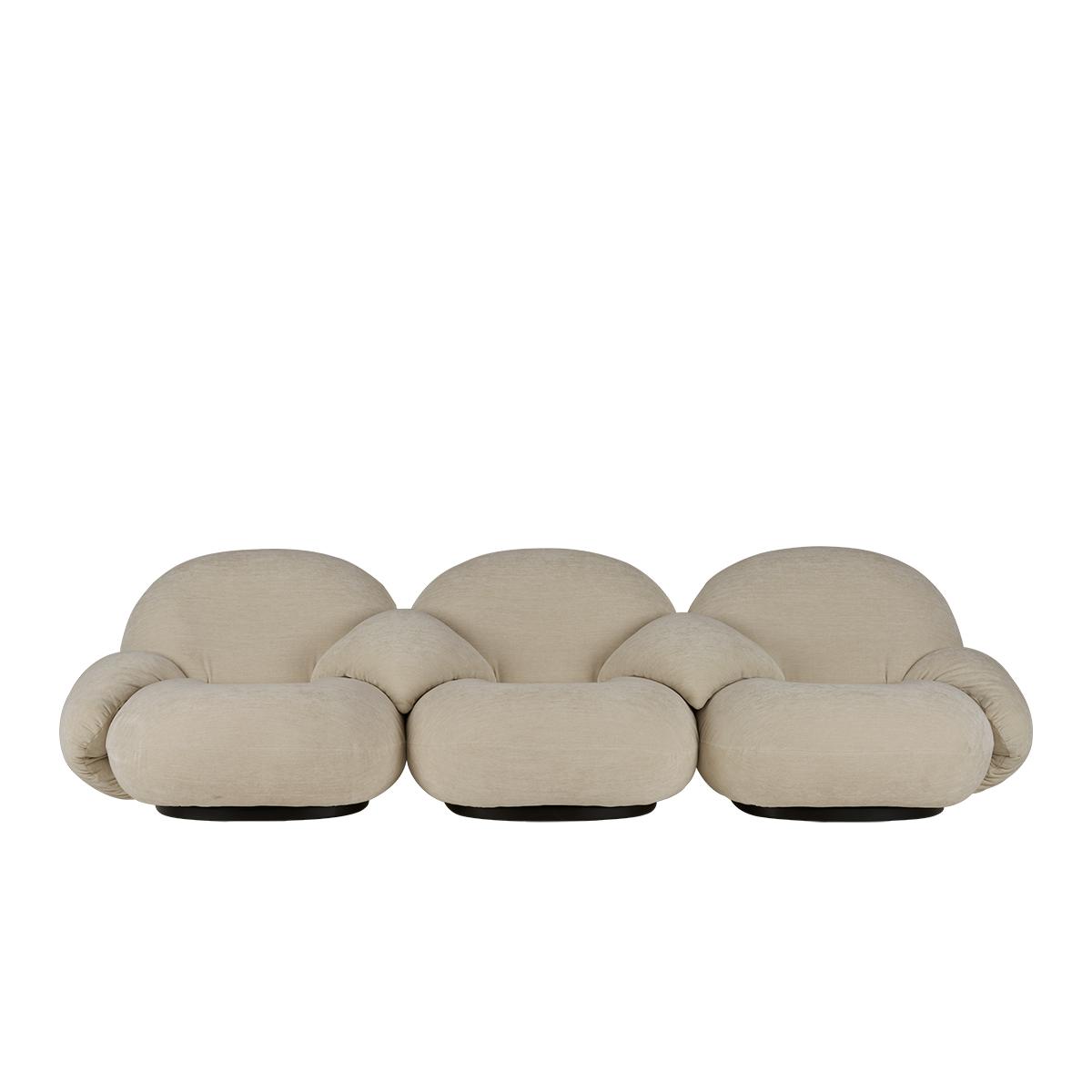 Pacha 3-seter Sofa m/armlener Black Base PG4
