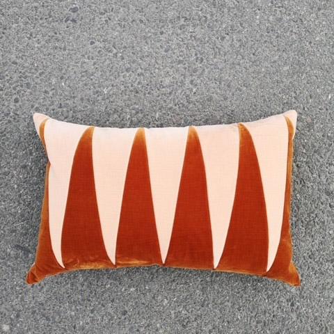 40x60 Paula Burnt Orange/Plaster Pute