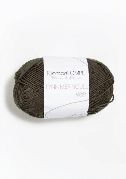 KlompeLOMPE TYNN MERINOULL, Mørk støva oliven 9871