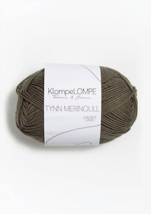 KlompeLOMPE TYNN MERINOULL, Lys støva oliven 9851