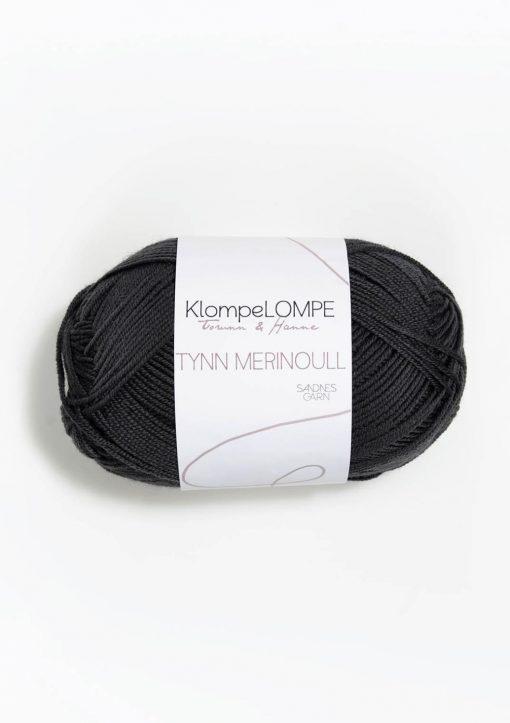 KlompeLOMPE TYNN MERINOULL, Dempet sort 5885