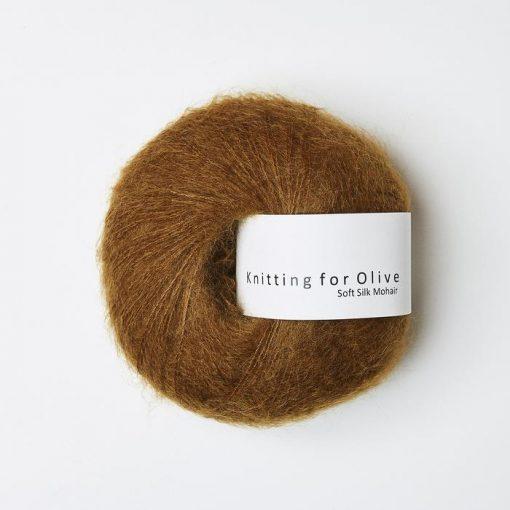KFO Soft silk mohair, Okkerbrun