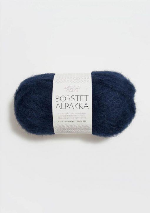 BØRSTET ALPAKKA  MARINEBLÅ 5575