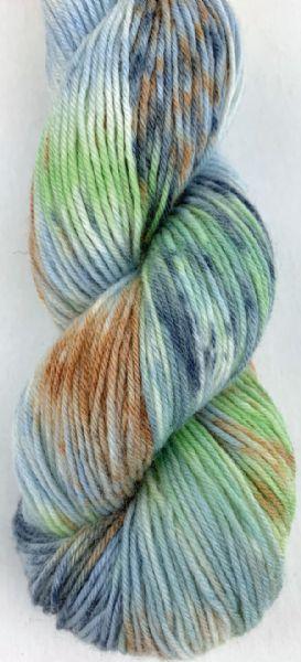 Selma håndfarget, farge 880807 Blå/grønn