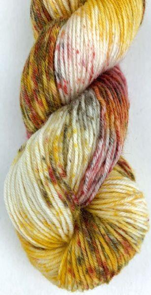 Selma håndfarget, farge 880808 Gul/rust