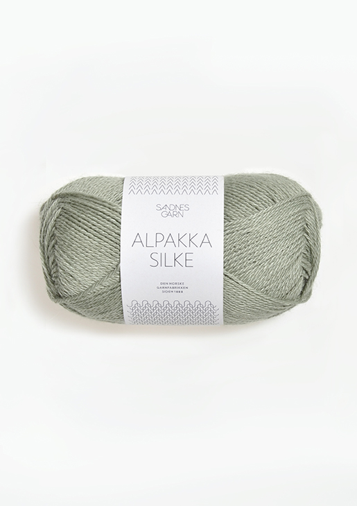 ALPAKKA SILKE STØVET LYS GRØNN 8521