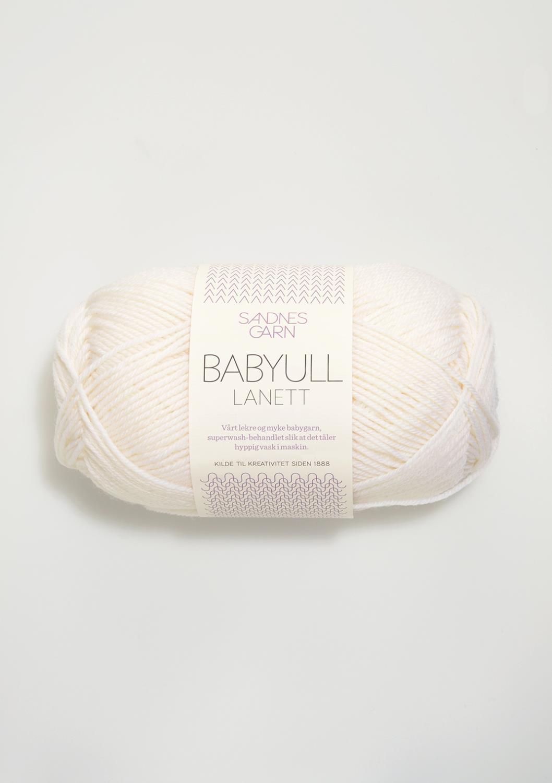BABYULL LANETT  OPTISK HVIT  1001