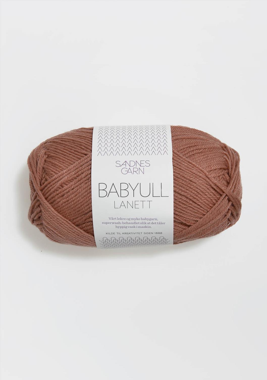 BABYULL LANETT   BRUNROSA  3544