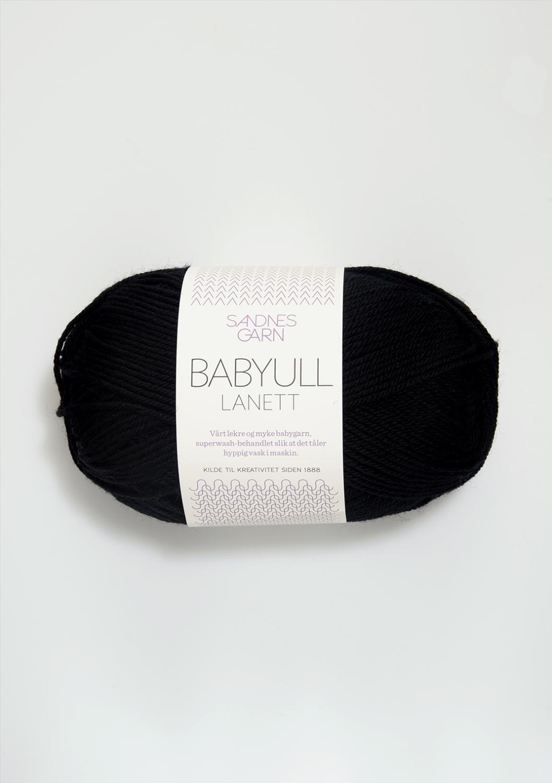 BABYULL LANETT   SVART  1099