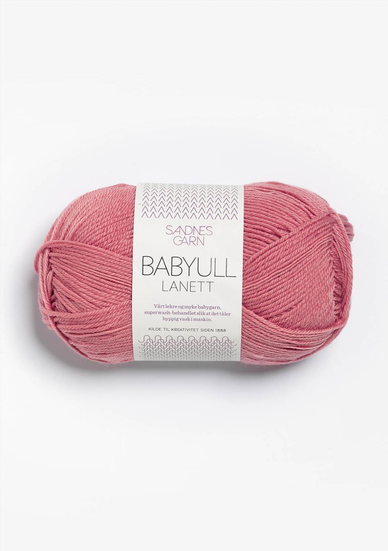 BABYULL LANETT STØVET GAMMELROSA 4023