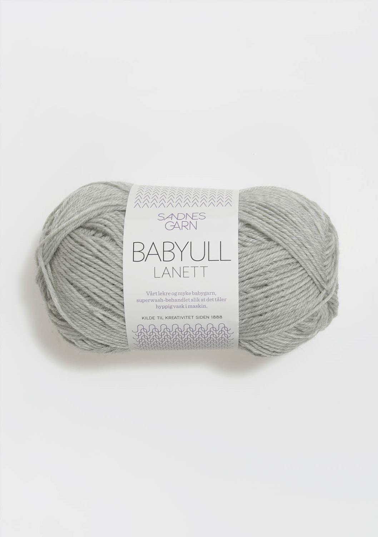 BABYULL LANETT  LYS GRÅMELERT  1022