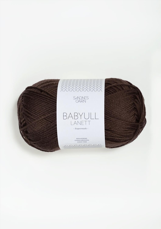 BABYULL LANETT MØRK BRUN  2571