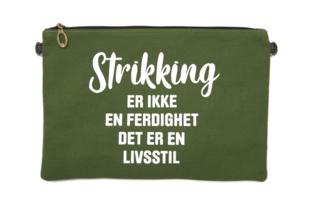 """Strikkeveske L """"strikking livsstil"""""""