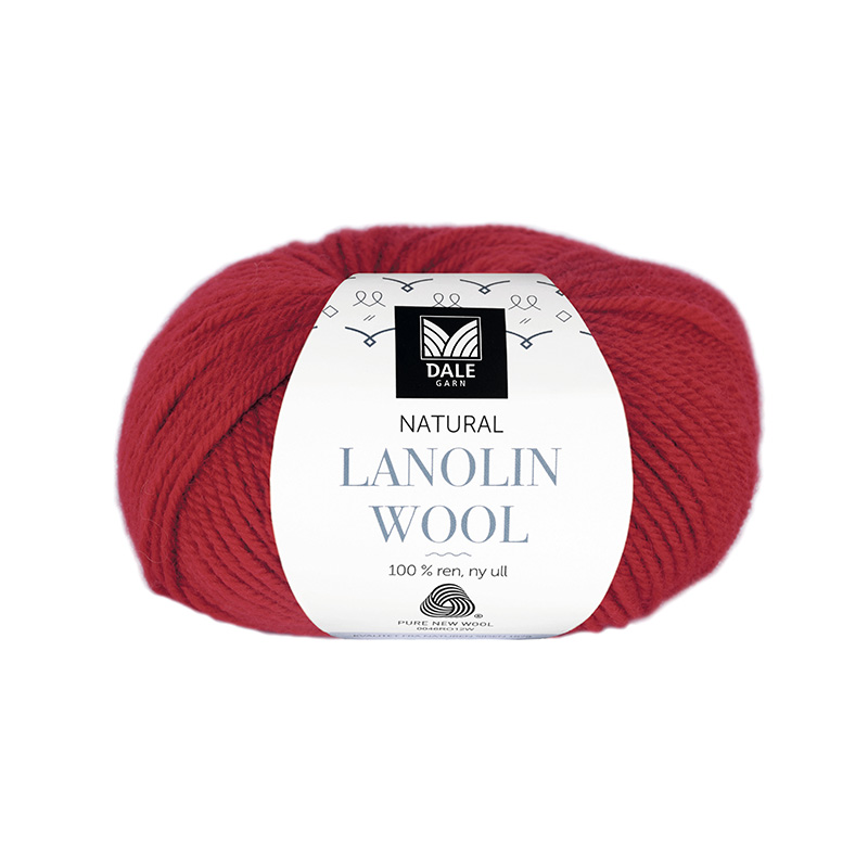 NATURAL LANOLIN WOOL 1407 Klar rød