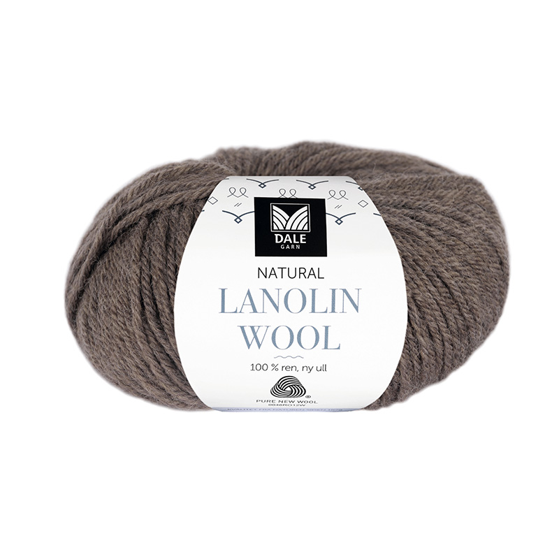 NATURAL LANOLIN WOOL 1423 Brun melert