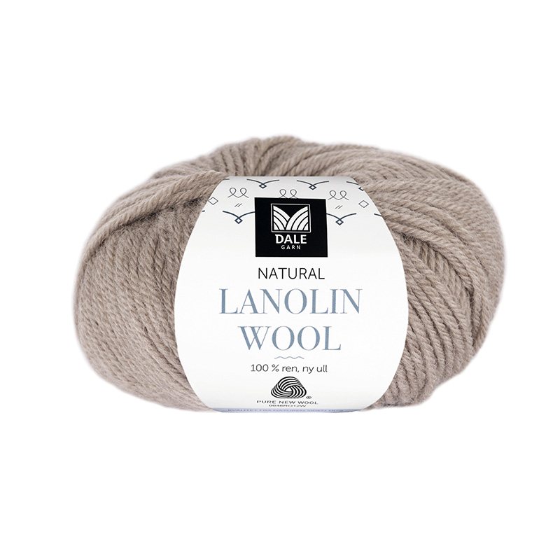 NATURAL LANOLIN WOOL 1422 Beige melert
