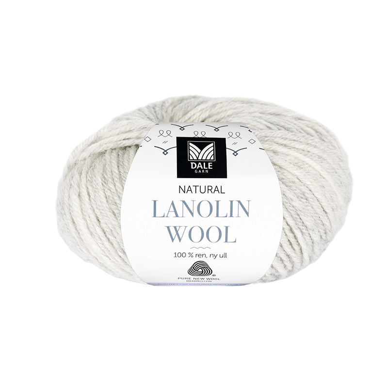 NATURAL LANOLIN WOOL 1421 Lys grå melert