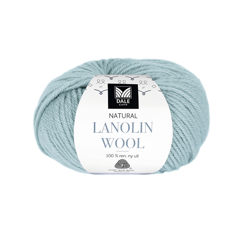 NATURAL LANOLIN WOOL 1411 Dus sjøgrønn