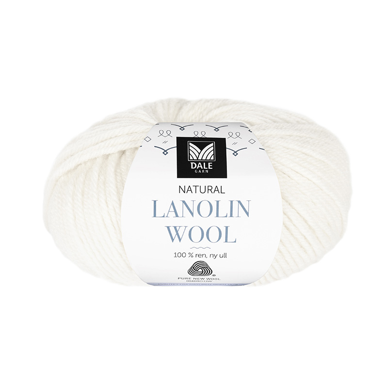 NATURAL LANOLIN WOOL 1438 Hvit