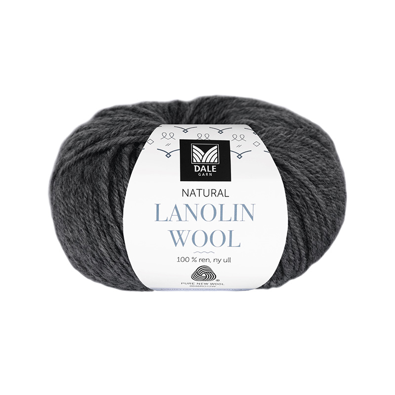NATURAL LANOLIN WOOL 1431 Koks melert