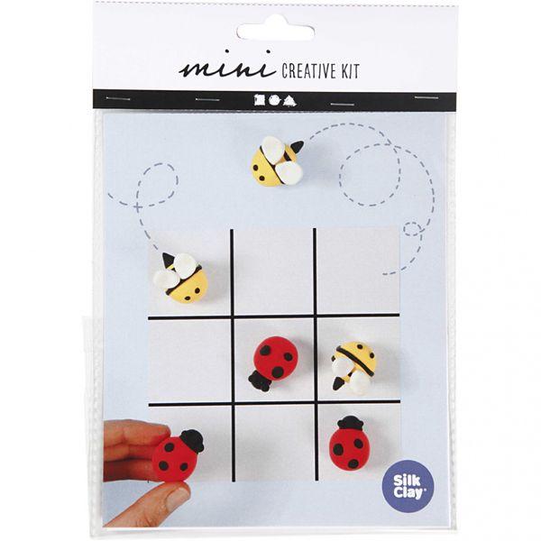 Mini kreative sett, tre på rad spill